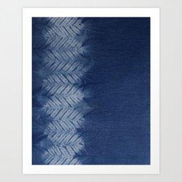 Shibori Chevron Stripe Art Print