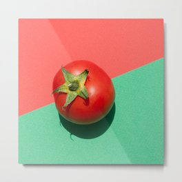 Tomato red and green Metal Print