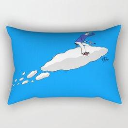 cloud bicycle Rectangular Pillow
