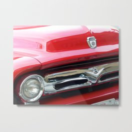 Cherry Red Ride Metal Print