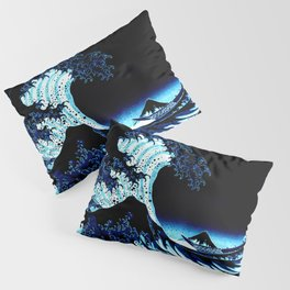 the Great Wave blue Pillow Sham