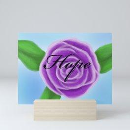Hope (purple rose) Mini Art Print