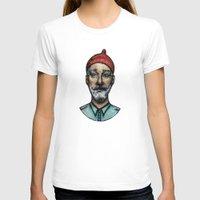 steve zissou T-shirts featuring STEVE by Joan Culum