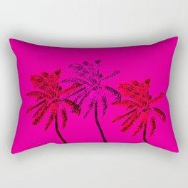 Neon Palms Rectangular Pillow