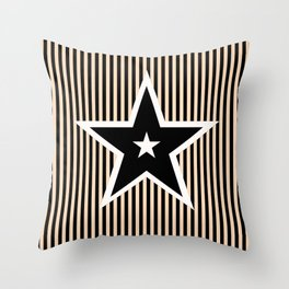 The Greatest Star! Black and Cream Throw Pillow