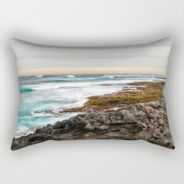 Volcanic Seascape in Fuerteventura at sunset Rectangular Pillow