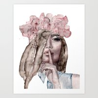 lolita Art Prints featuring Lolita by Lebats