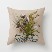 north carolina Throw Pillows featuring North Carolina Memories by Jessica Roux