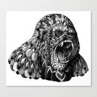 bioworkz Canvas Prints featuring Gorilla by BIOWORKZ