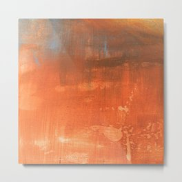 Abstract art in tan Metal Print