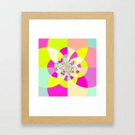 Bright & Pastel Kaleidoscope Framed Art Print
