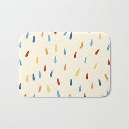 Abstract Retro Colored Rain Drops Snow Flakes - Ipotane Bath Mat