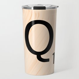 Scrabble Letter Q - Large Scrabble Tiles Travel Mug