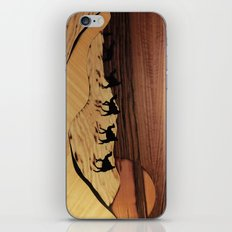 Desert or Sahara of wood marquetry art landscape picture iPhone & iPod Skin