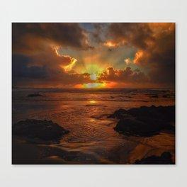 Sunset at Asilomar Canvas Print
