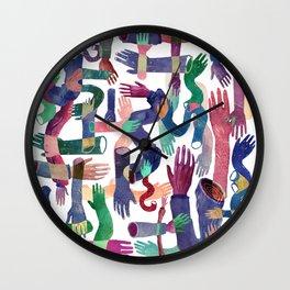Color Hands Wall Clock