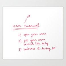 User manual Art Print