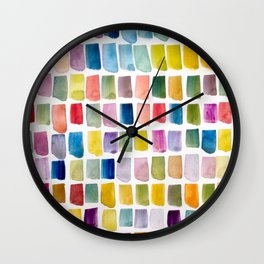 #135 Color Garden Wall Clock