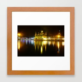 Golden temple - by Rasmus Verdier Framed Art Print