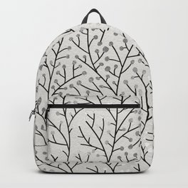 Berry Branches – Silver & Black Backpack