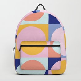 Colorful Circles in Squares Backpack