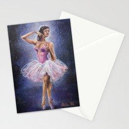 Repainted Ballerina in Spotlight Stationery Cards