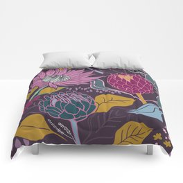 Lusciously Moody Proteas Comforters