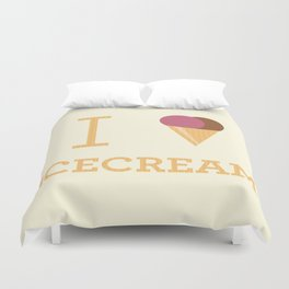 I heart Icecream Duvet Cover