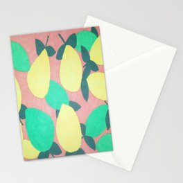 Lemony Fresh Citrus Pattern Stationery Cards