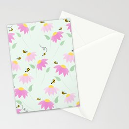 Pretty Flowers & Buzzing Bees Stationery Cards