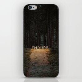 endure. iPhone Skin