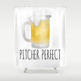 Pitcher Perfect Shower Curtain