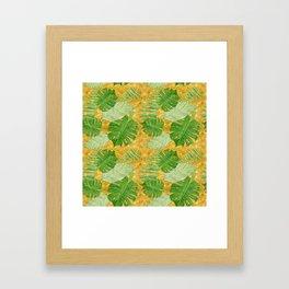 Tropical Leaf Mix IV Framed Art Print