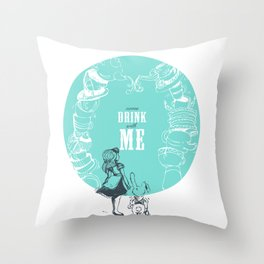DRINK with ME Throw Pillow