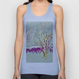 Winter Trees Purple Teal Gold Buffalo by CheyAnne Sexton Unisex Tank Top