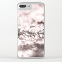Shiny rose sparkling bokeh Clear iPhone Case