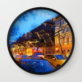 photo night city // city night // Budapest  Wall Clock