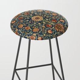William Morris Floral Carpet Print Bar Stool