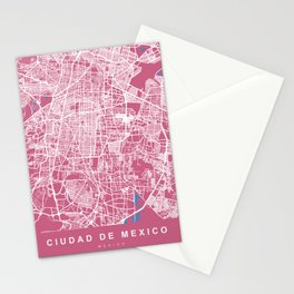 MEXICO Map Print | Pink More Colors, Review My Collections Stationery Cards