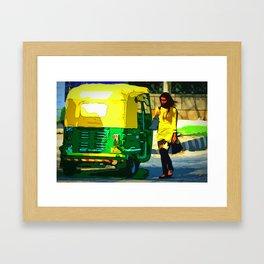 Autorickshaw II - India Framed Art Print