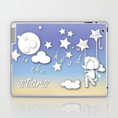 lovely girl swinging in sky between the stars Laptop & iPad Skin