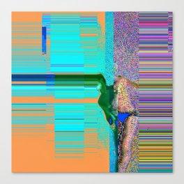 Human between two realities Canvas Print