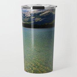 The Collin Range as seen from Lake Edith in Jasper National Park Travel Mug