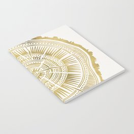 Paper Birch – Gold Tree Rings Notebook