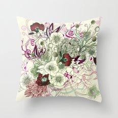 Zentangle Floral mix II Throw Pillow