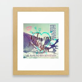 In Between artwork Framed Art Print