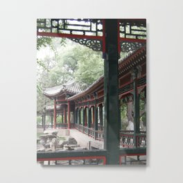 Chinese Tea House Metal Print