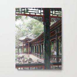 Chinese Tea House Metal Print