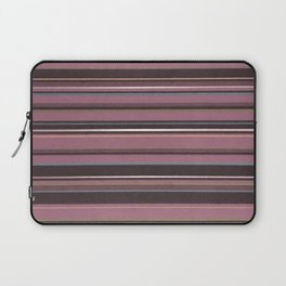 Pink and Brown Striped Pattern Laptop Sleeve