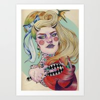 devil Art Prints featuring Devil. by Izuru  Kumo